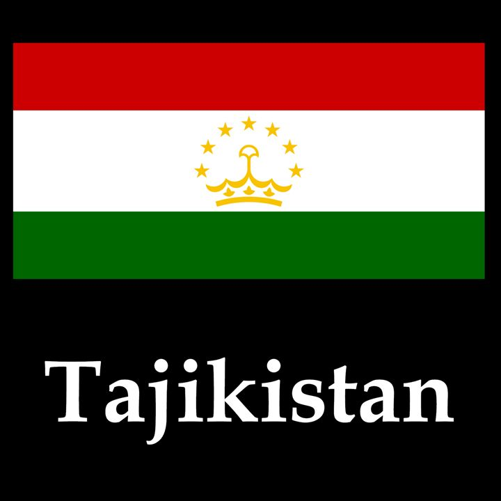 Tajikistan Flag And Name - My Evil Twin