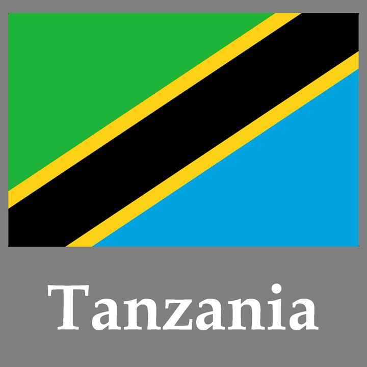 Tanzania Flag And Name - My Evil Twin