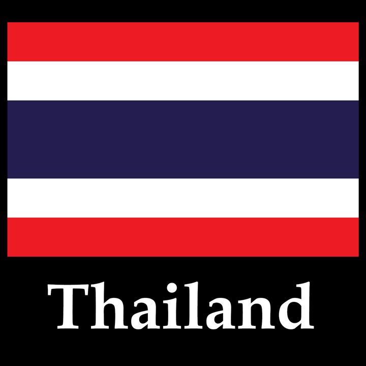 Thailand Flag And Name - My Evil Twin