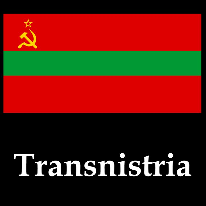 Transnistria Flag And Name - My Evil Twin