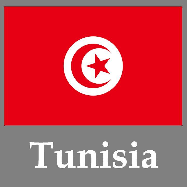 Tunisia Flag And Name - My Evil Twin