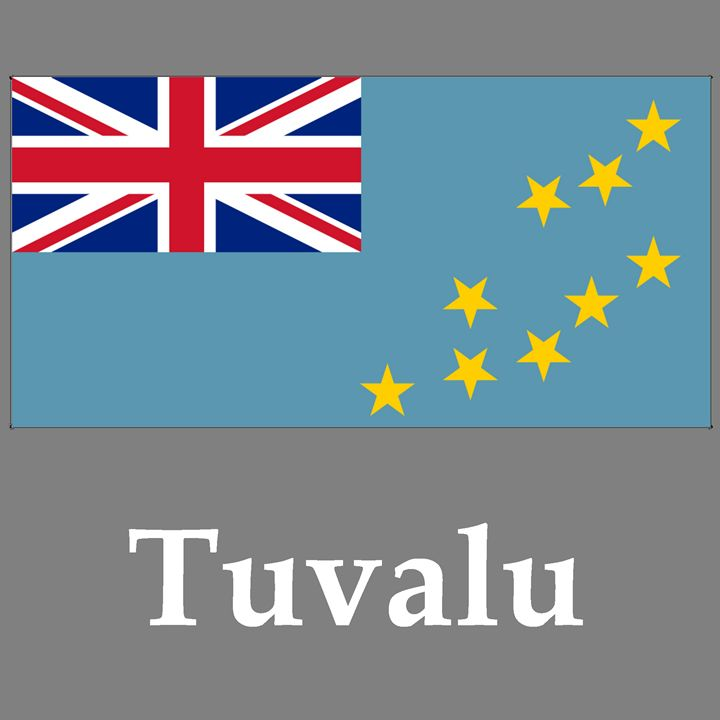 Tuvalu Flag And Name - My Evil Twin