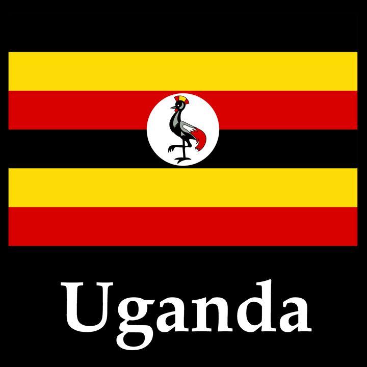 Uganda Flag And Name - My Evil Twin