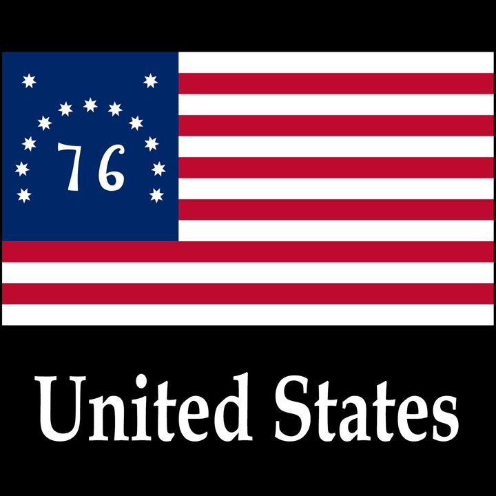 United States Flag #3 And Name - My Evil Twin