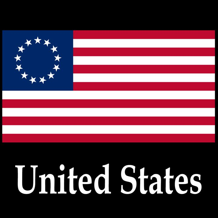 United States Flag #2 And Name - My Evil Twin
