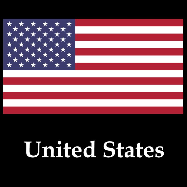 United States Flag And Name - My Evil Twin