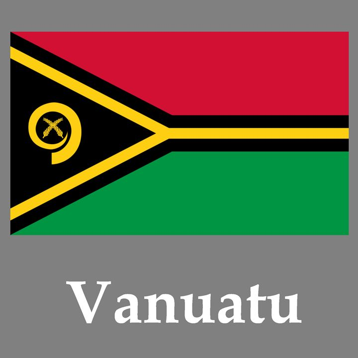 Vanuatu Flag And Name - My Evil Twin
