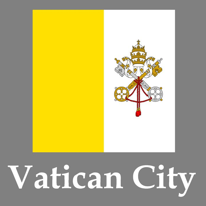 Vatican City Flag And Name - My Evil Twin