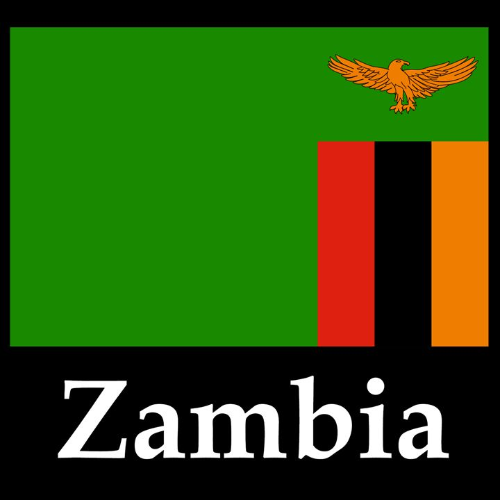 Zambia Flag And Name - My Evil Twin