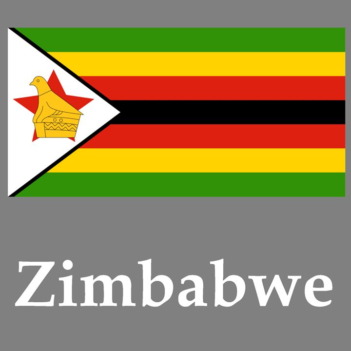Zimbabwe Flag And Name - My Evil Twin