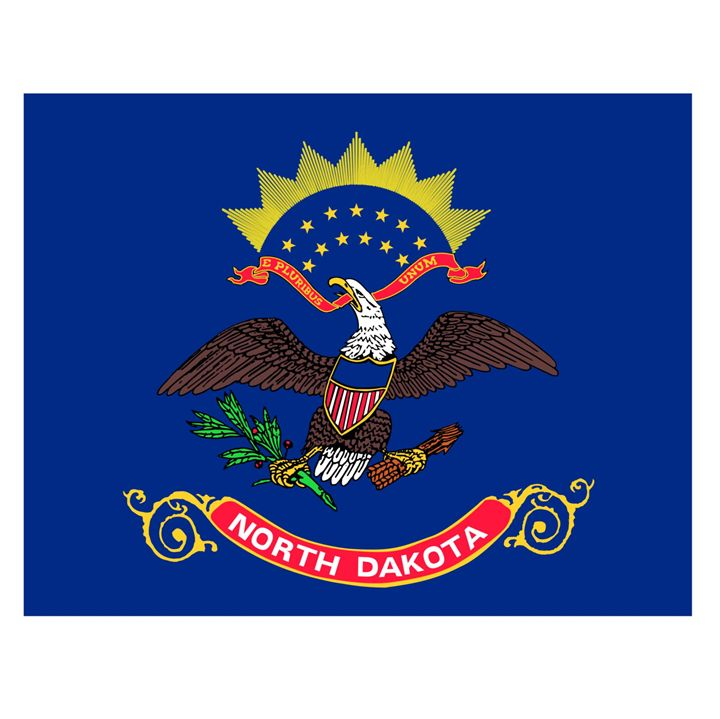 North Dakota Flag - My Evil Twin