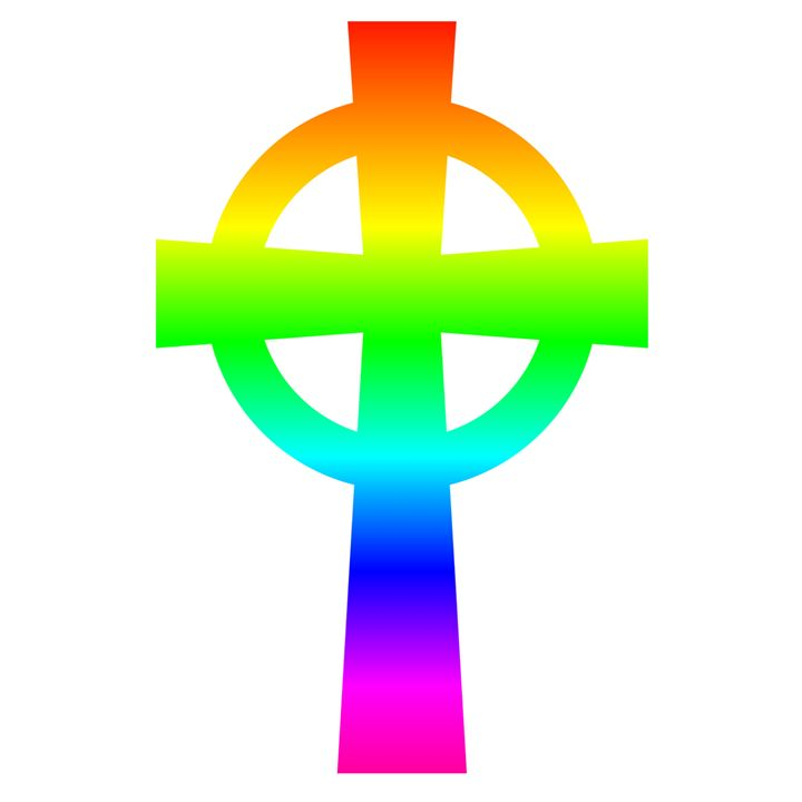 Rainbow Catholic Cross - My Evil Twin