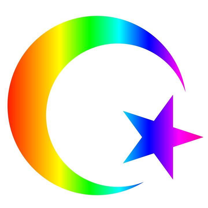 Rainbow Islam Symbol My Evil Twin Digital Art Religion