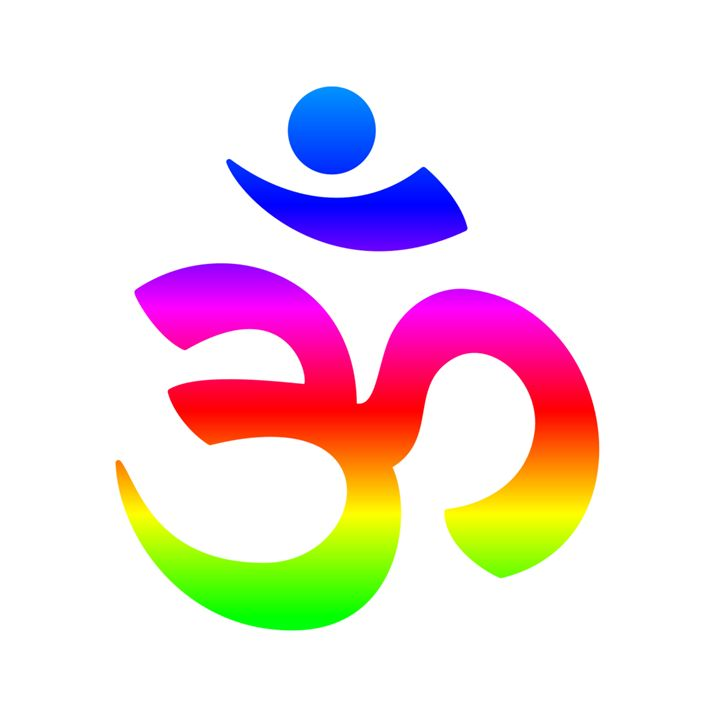 Rainbow Hindu Symbol My Evil Twin Digital Art Religion