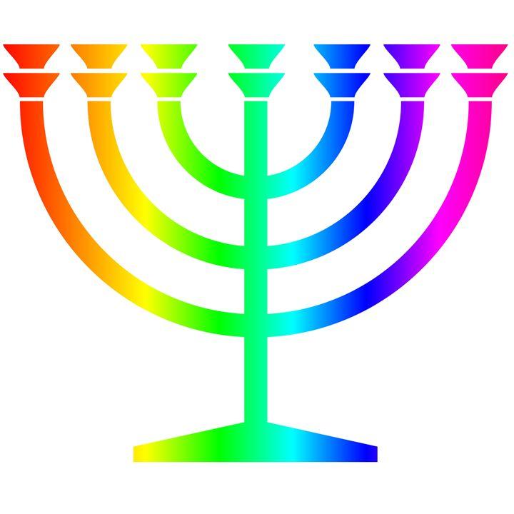 Rainbow Judaism Symbol - My Evil Twin