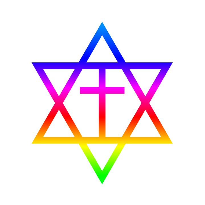 Rainbow Messianic Jew Symbol - My Evil Twin