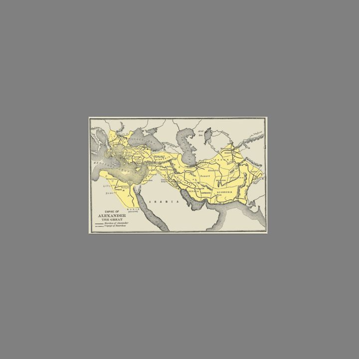 Map Of Alexander The Great - My Evil Twin