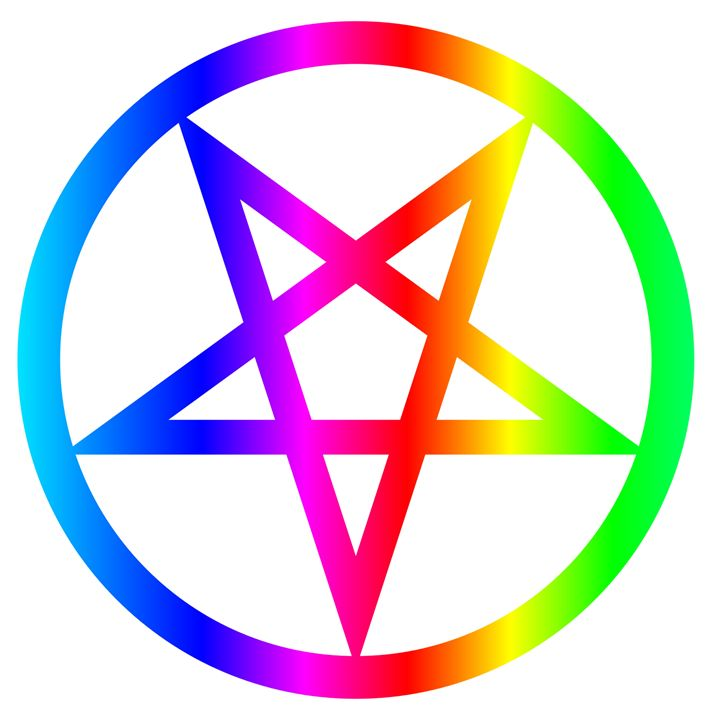 Rainbow Inverted Pentacle - My Evil Twin