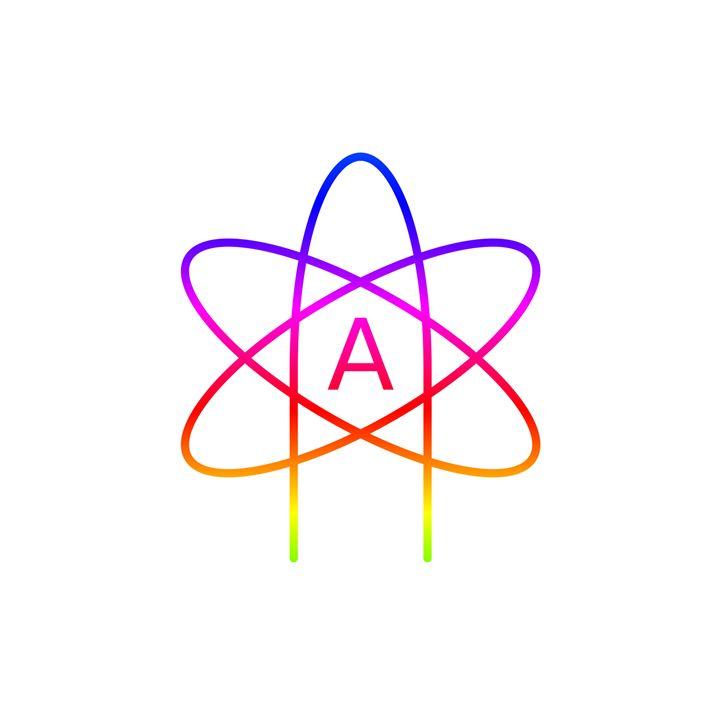 Rainbow Atheism Symbol #2 - My Evil Twin