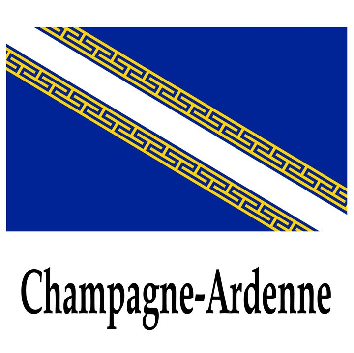 Champagne-Ardenne, France Flag - My Evil Twin