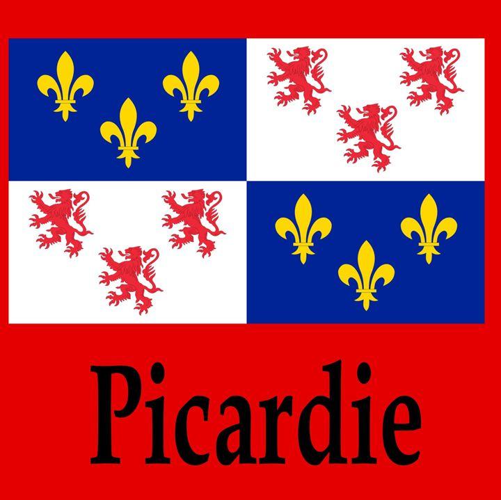 Picardie, France Flag And N ame - My Evil Twin