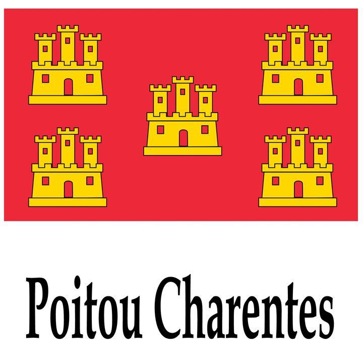 Poitou Charentes, France Flag - My Evil Twin