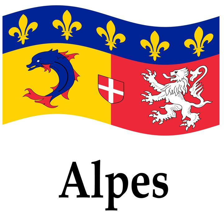 Waving Alpes, France Flag - My Evil Twin
