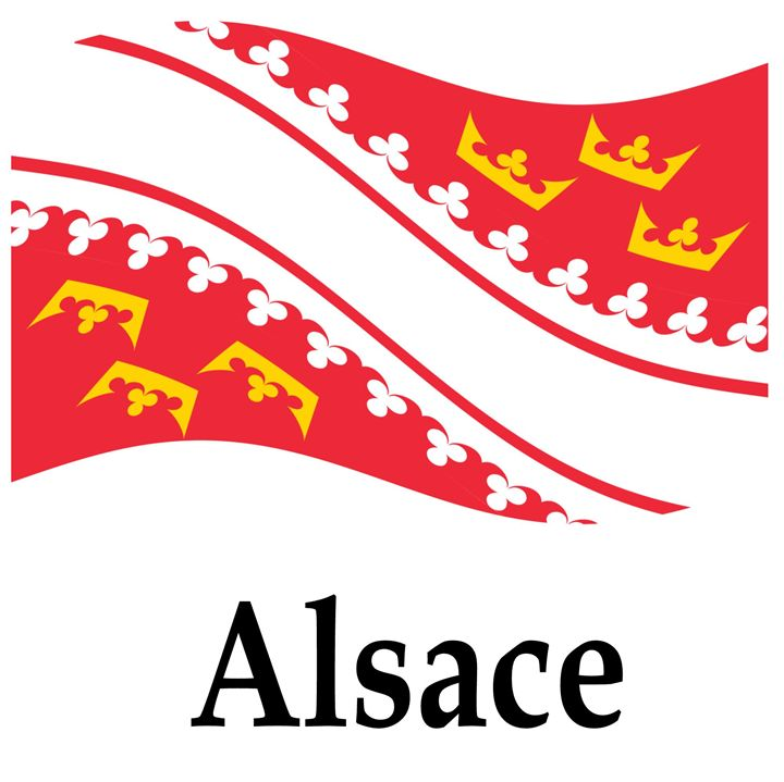 Waving Alsace, France Flag - My Evil Twin