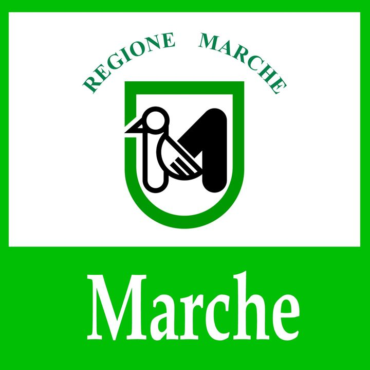Marche, Italy Flag And Name - My Evil Twin