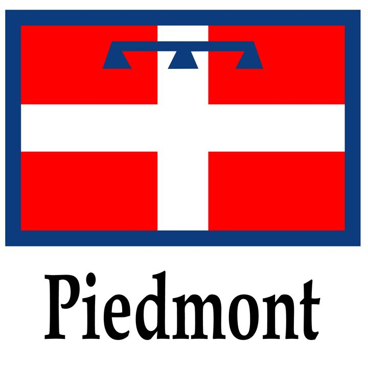 Piedmont, Italy Flag And Name - My Evil Twin