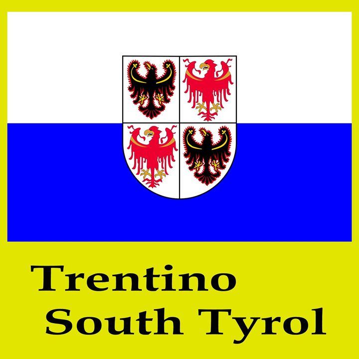 Trentino South Tyrol, Italy Flag - My Evil Twin
