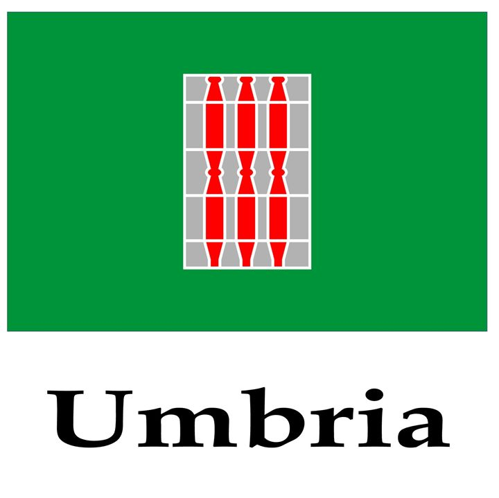 Umbria, Italy Flag And Name - My Evil Twin