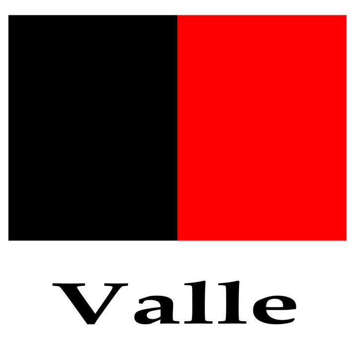 Valle, Italy Flag And Name - My Evil Twin