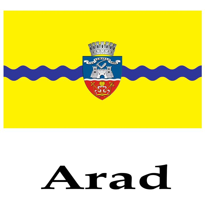 Arad, Romania Flag And Name - My Evil Twin