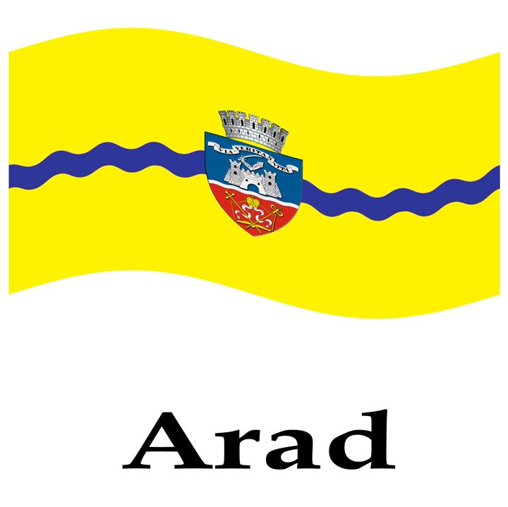 Waving Arad, Romania Flag - My Evil Twin