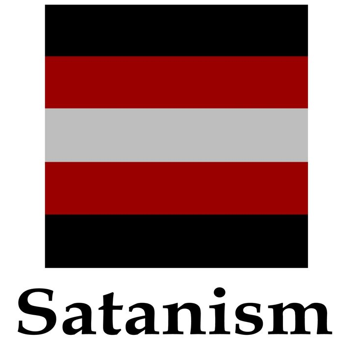 Satanism Flag And Name - My Evil Twin