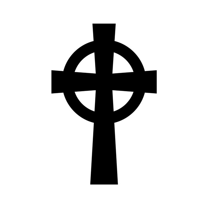 Celtic Catholic Cross - My Evil Twin