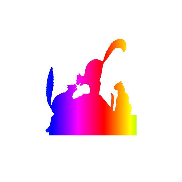 Rainbow Cat Fight - My Evil Twin