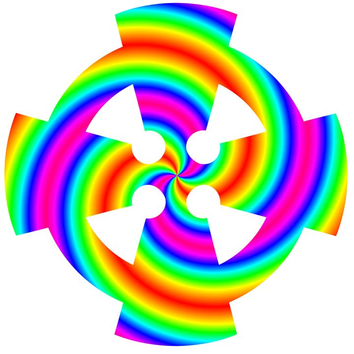 Rainbow Celtic Cross - My Evil Twin