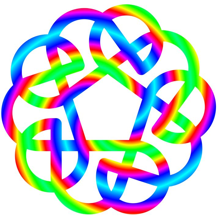 Rainbow Celtic Knot - My Evil Twin