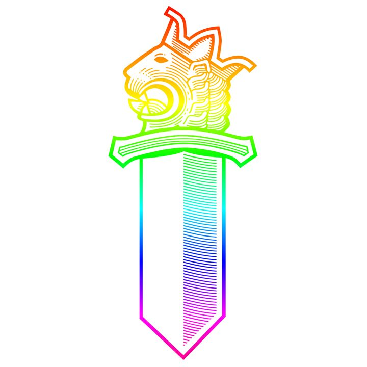 Rainbow Lion Head Sword - My Evil Twin
