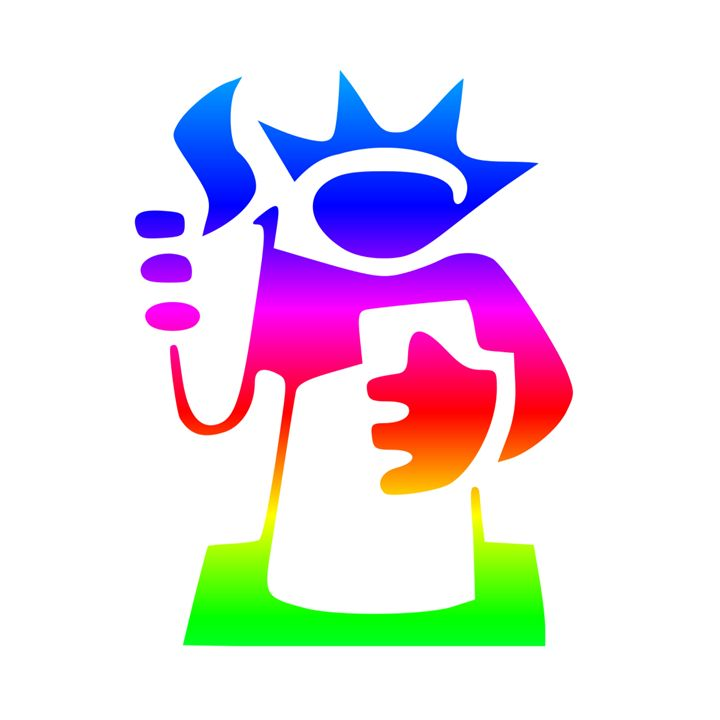 Rainbow Statue Of Liberty - My Evil Twin