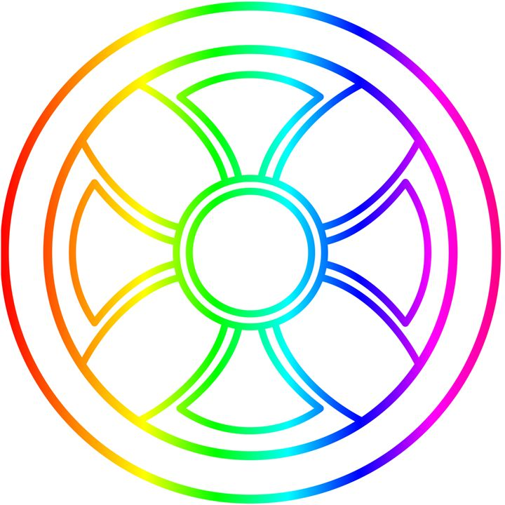 Rainbow Sun Cross - My Evil Twin