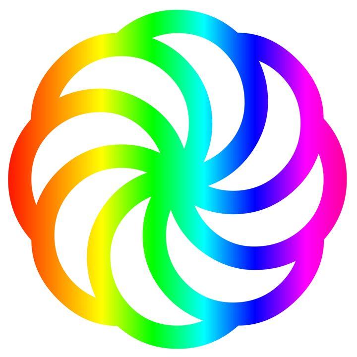 Rainbow Armenian Eternity Symbol - My Evil Twin