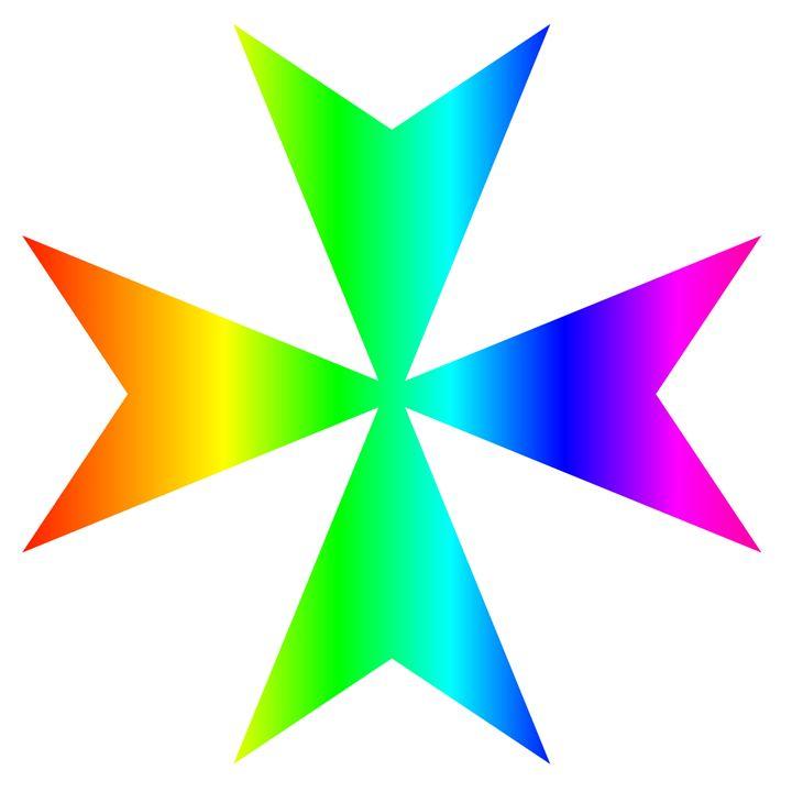 Rainbow Maltese Cross - My Evil Twin
