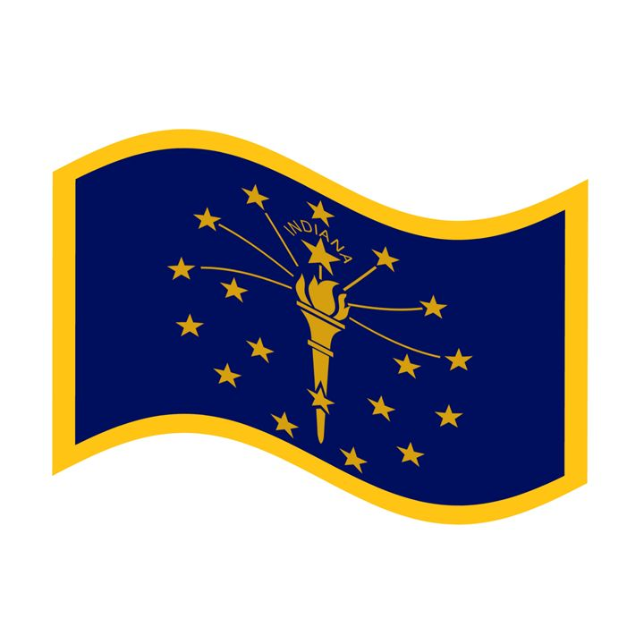 Indiana Flag - My Evil Twin
