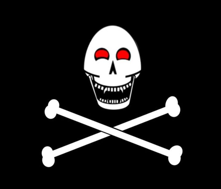 Fanged Jolly Roger Flag - My Evil Twin