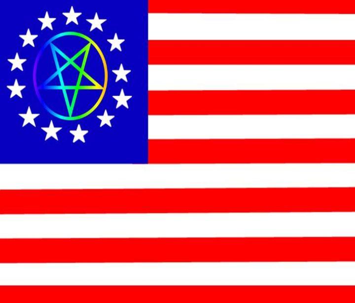 Pentagram 13 Stars Flag - My Evil Twin