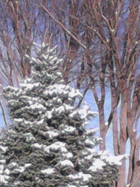 Snowy Tree - My Evil Twin