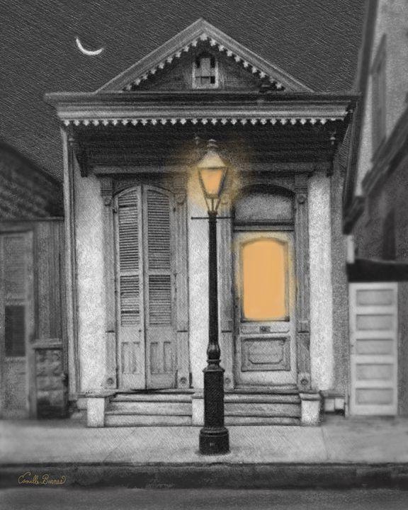 French Quarter Lamp Light - Camille Barnes Studio